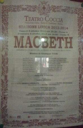 Cartellone Macbeth